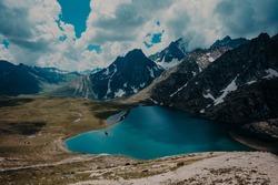 Trekking in the mountains of Kashmir, Vishnusar lake.