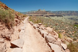 Trekking South Kaibab trail, Grand Canyon, Arizona, USA