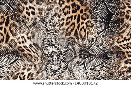 Trend Leopard and Snake leather custom design dresses with tunic and blouse for t-shirt printing