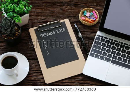 TRENDS 2018 Business Concept