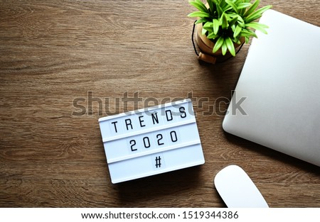 TRENDS 2020 Business Concept flat lay.