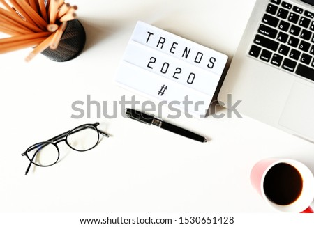 TRENDS 2020 Business Concept ,minimal style