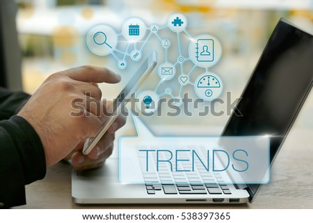 Trends, Technology Concept