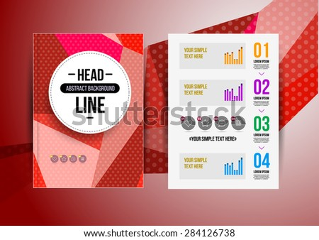 Trendy brochur template. Colorful design illustration for print magazine, flyer, presentation. with infographic and headline. #284126738