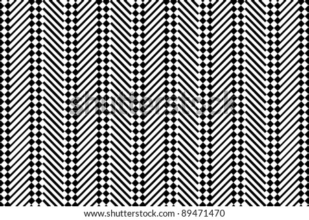 Trendy chevron patterned background, black and white