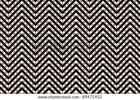 Trendy chevron patterned background black, white, brown