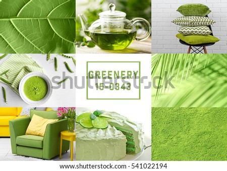 Trendy color concept. Set with greenery color - Shutterstock ID 541022194
