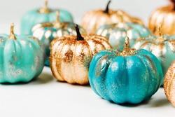 Trendy Halloween Shiny Decorative Pumpkins
