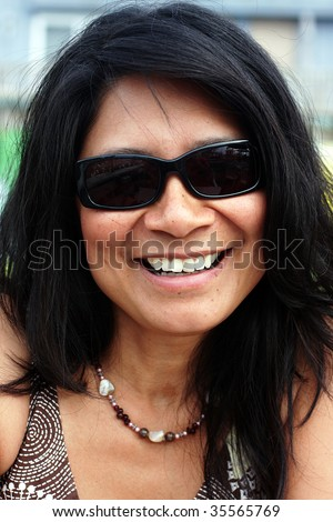 stock photo : trendy mature and sexy women in sunglasses
