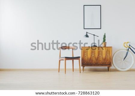 trendy spacious room with...
