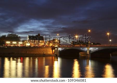 Trent Bridge at Night, Nottingham