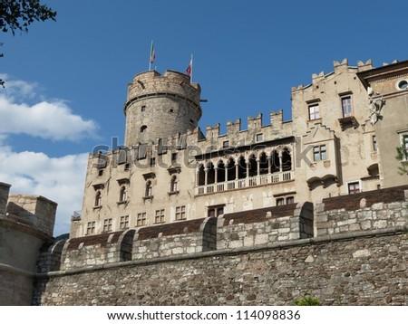 Trento - Buonconsiglio castle - stock photo