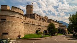 Trento Castello del Buonconsiglio, view of historic building against cloudy sky
