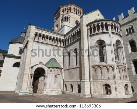 Trento - the cathedral, seat of the Council of Trent (1545-1563)