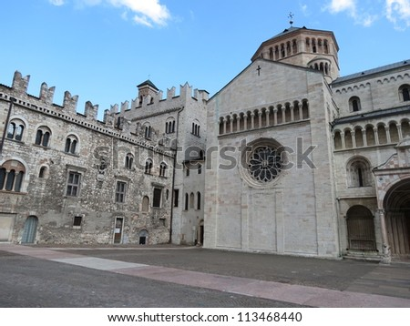 Trento - the cathedral (where the Council of Trent, 1545-1563, met)