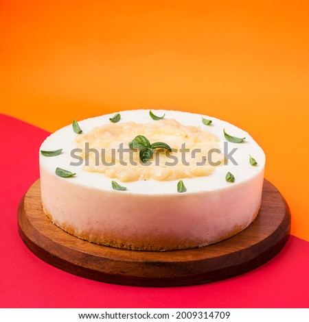 Tres leches cake with soursop mousse Zdjęcia stock ©