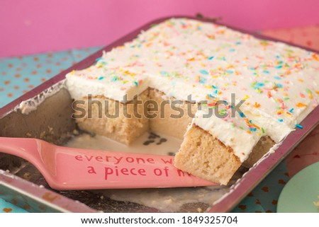 Tres Leches - Traditional Mexican Cake (with sprinkles) Zdjęcia stock ©