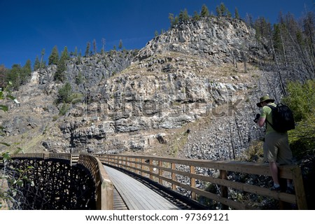 Trestles in Myra Canyon, Kelowna, Canada