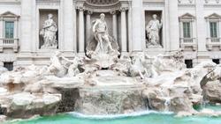 Trevi Fountain, Italian: Fontana di Trevi, in Rome - Italy