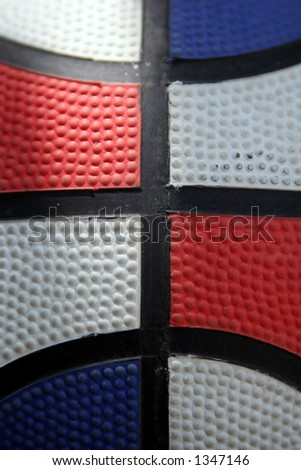 Tri-color basketball