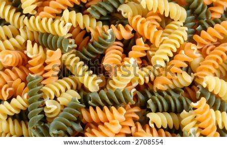 Tri-color Pasta Texture