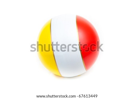 Tri-color rubber ball #67613449