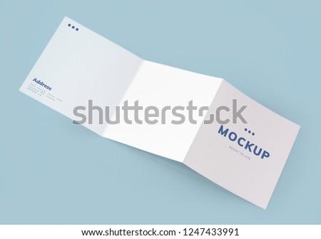 Tri-fold brochure mockup printed materials #1247433991