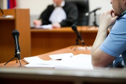 trial in the courtroom of the Russian Federation