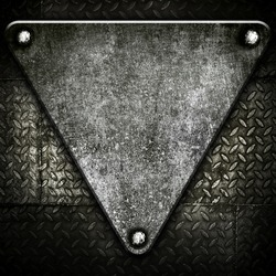 triangle metal background