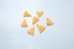 Triangle Shape Fry Crunchy Snack Stock Photo