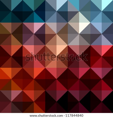 Triangles abstract background design template. Modern mosaic pattern. (raster version)