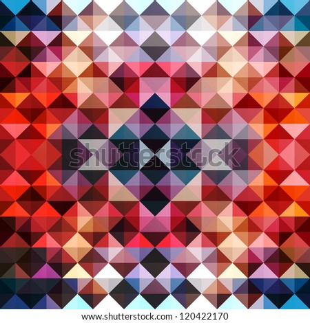 Triangles background design template. Abstract modern mosaic pattern. (Vector version available)