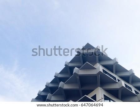 Triangles building. Triangles Architecture.  #647064694