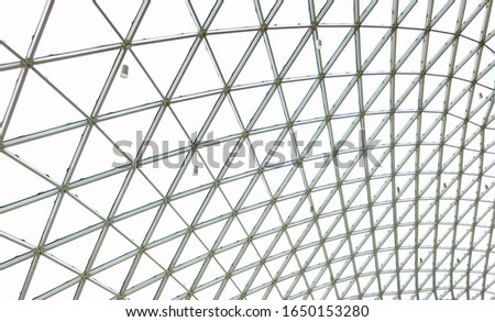 Triangles Pattern in a dome structure Stok fotoğraf ©
