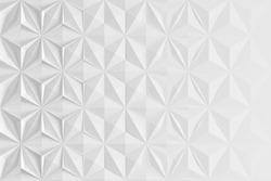 Triangular abstract geometric gray background of triangular volumetric elements of different random size. 3D illustration