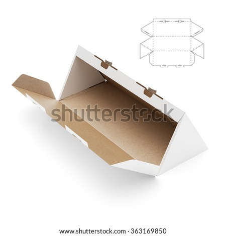 Triangular Box With Die Cut Template 363169850