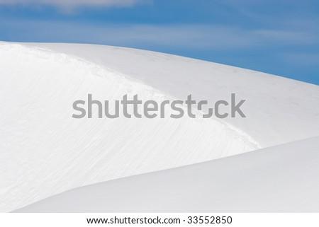 triangular layers of pristine snow