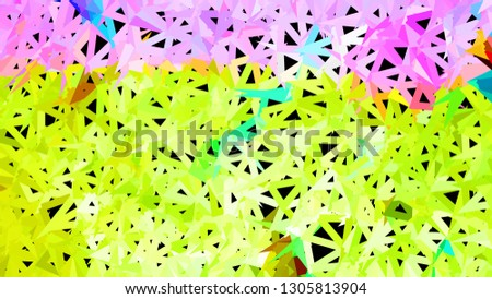 Triangulation image graphic background bright and colored.