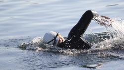 triathlon swim event