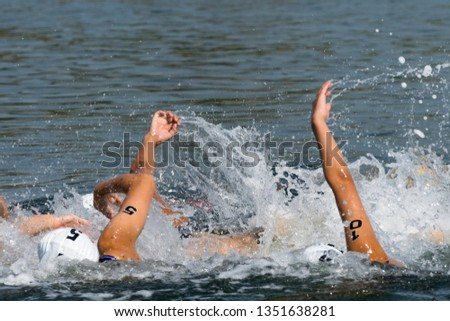 Triathlon tournament swim at sea #1351638281