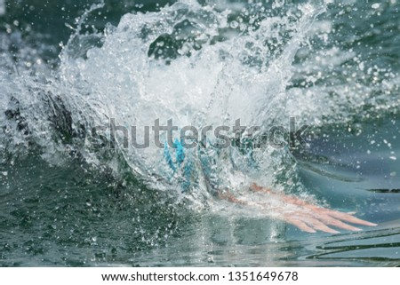 Triathlon tournament swim at sea #1351649678
