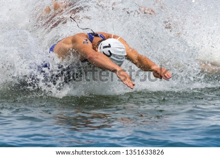 Triathlon tournament swim diving #1351633826