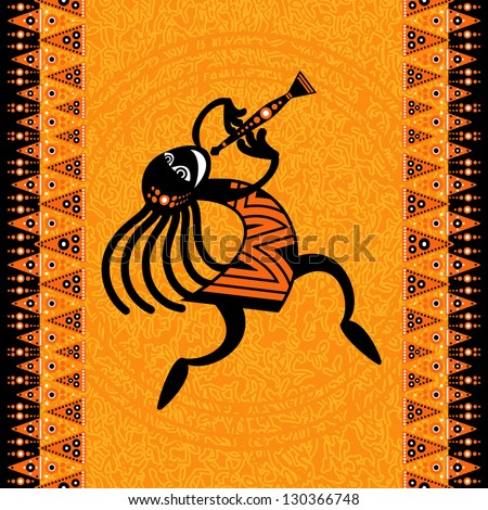tribal art - Dancing figure