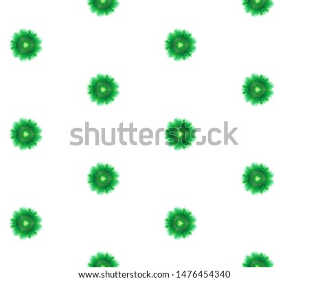 Tribal Art. Endless Repeat Painting.  Pagan, Northern, Russian, Celtic Ornament. Watercolor Surface. Geo Textile. Green, Lime Texture. Ornamental Pattern.