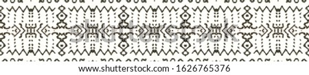Tribal Boho Pattern. Black and Whitee Seamless Texture. Seamless Tie Dye Ornament. Ikat Persian Print. Abstract Batik Motif. Ethnic Tribal Boho Pattern.