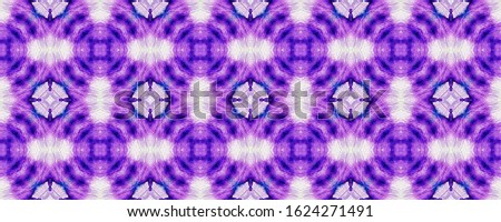Tribal Boho Pattern. Seamless Tie Dye Rapport. Ikat Indonesian Design. Abstract Batik Motif. Violet Texture. Ethnic Tribal Boho Pattern.