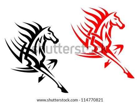 Tribal Mustang Tattoo Tribal Mustang Stallion For