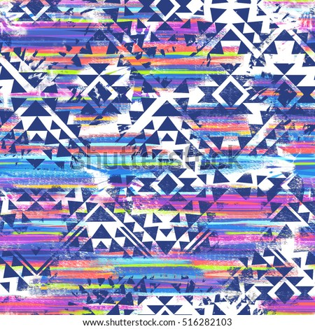 tribal print mix ~ seamless background