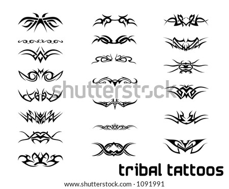 tribal tattoo patterns. stock photo : tribal tattoo
