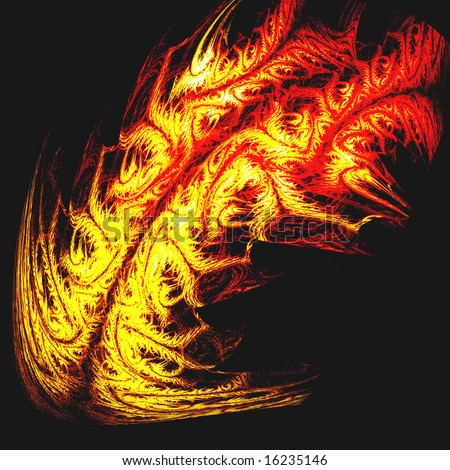 "stock photo : tribal tattoo of dragon fire or tiger skin - of ""Digital"